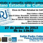 Plano Estadual de Cultura