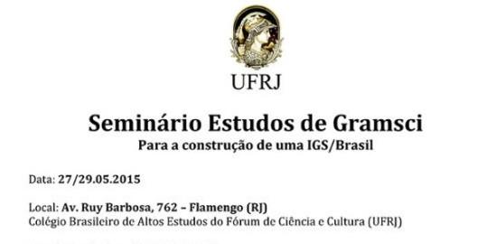 Seminário Estudo de Gramsci