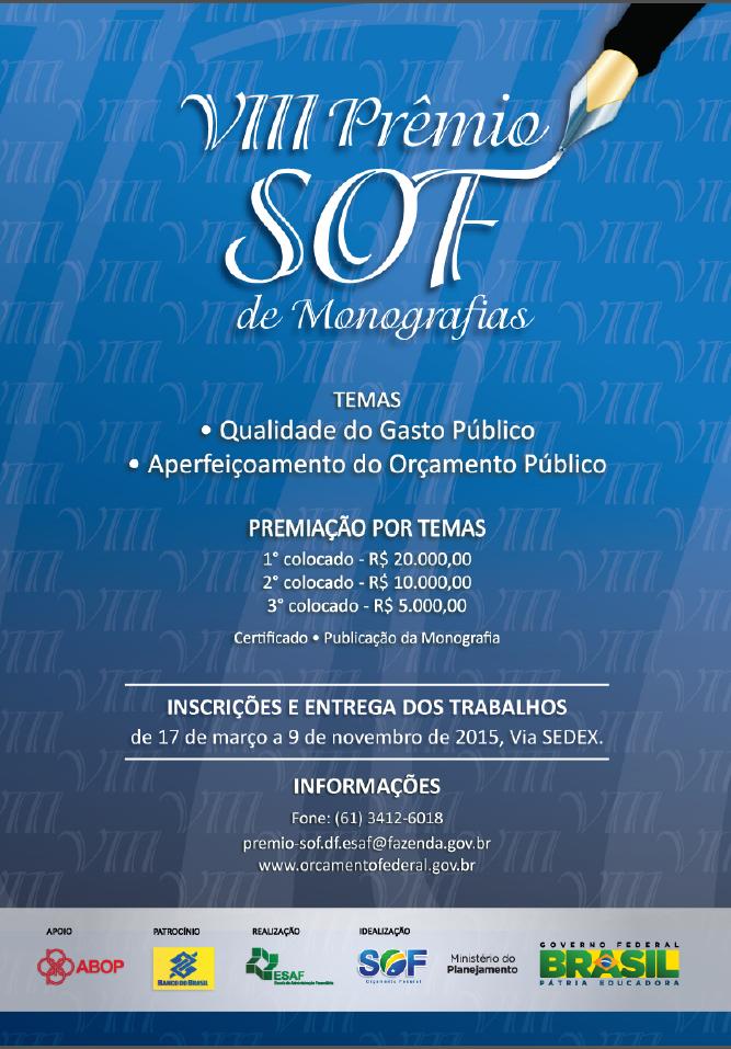VIII Prêmio SOF de Monografias - Edição 2015