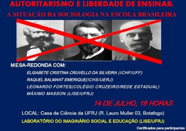 Autoritarismo e liberdade de ensinar - a situação da sociologia na escola brasileira