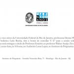 Entrega de Título de Professor Emérito ao Professor Walter Araújo Zin
