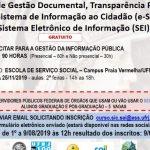 Curso Noções Gestão Doc, Transp. Public e uso SIC e SEI