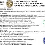 I Simpósio Científico da Educação Física (SICEF) - UFRJ