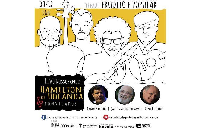 O erudito e o popular com Hamilton de Holanda em live no Bossa Criativa