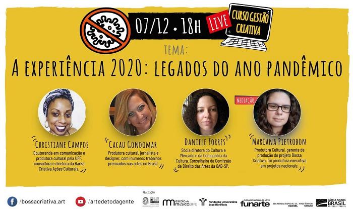 Live: A Experiência 2020: saldos e legados do ano pandêmico