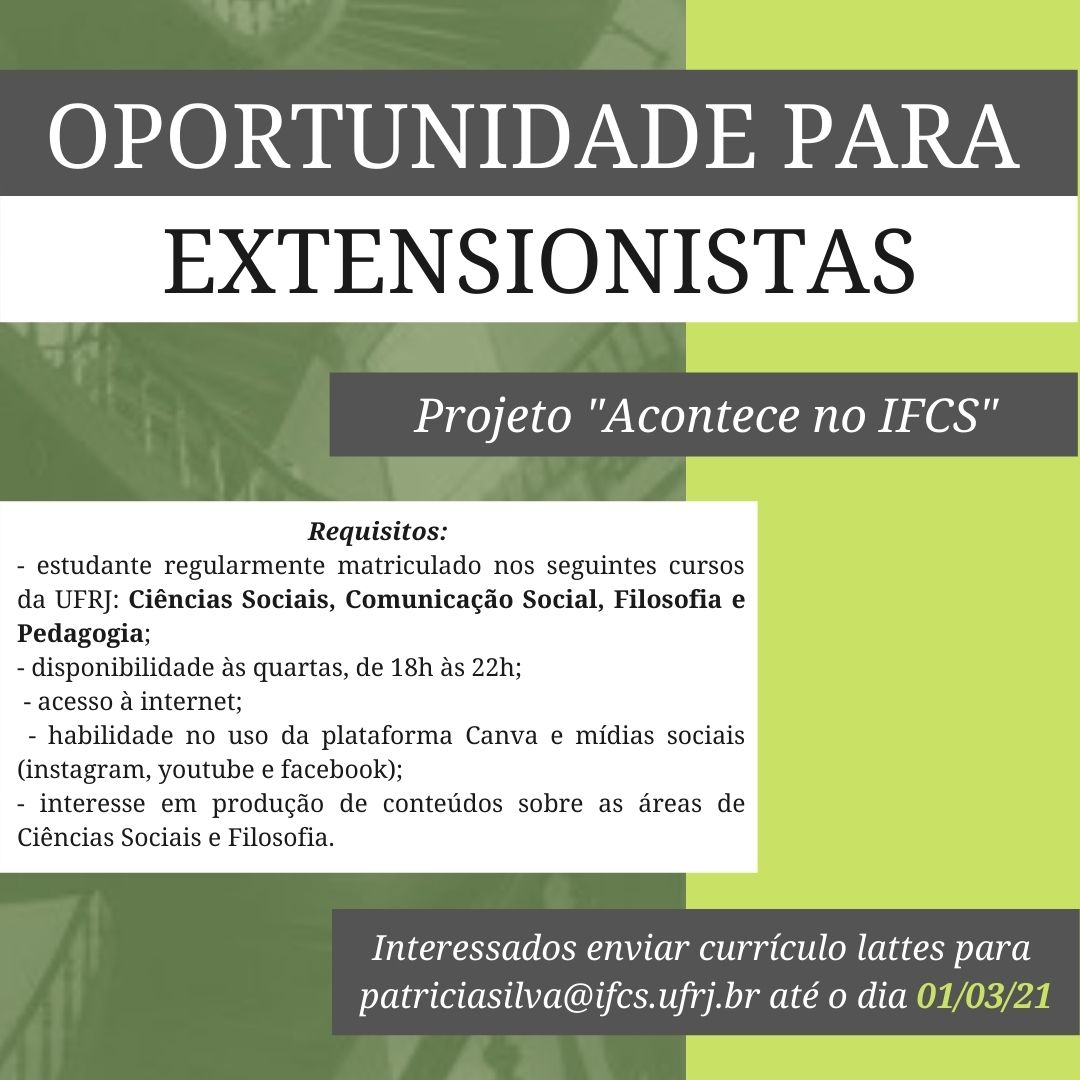 Projeto Acontece no IFCS