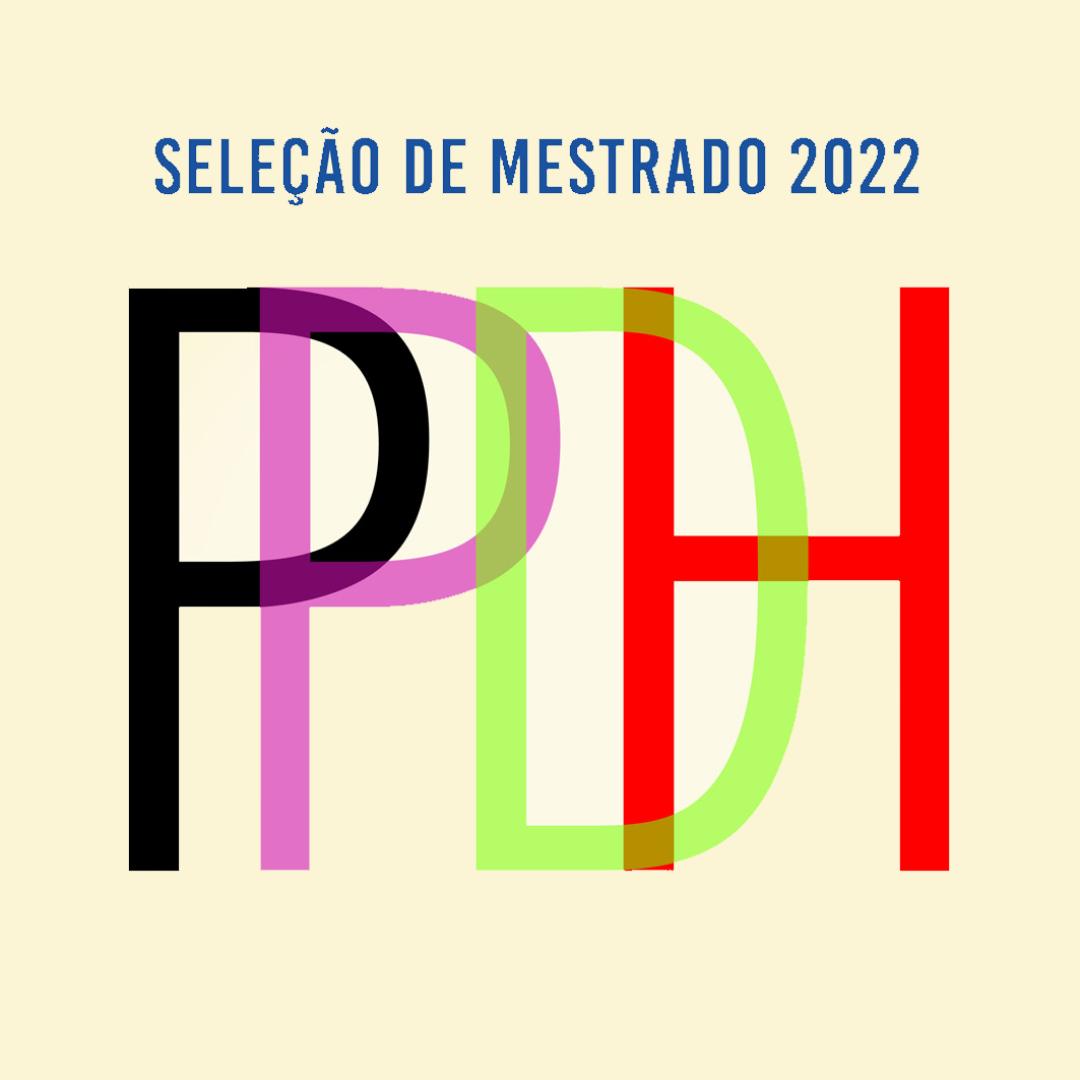 Seleção para ingresso no mestrado do PPDH