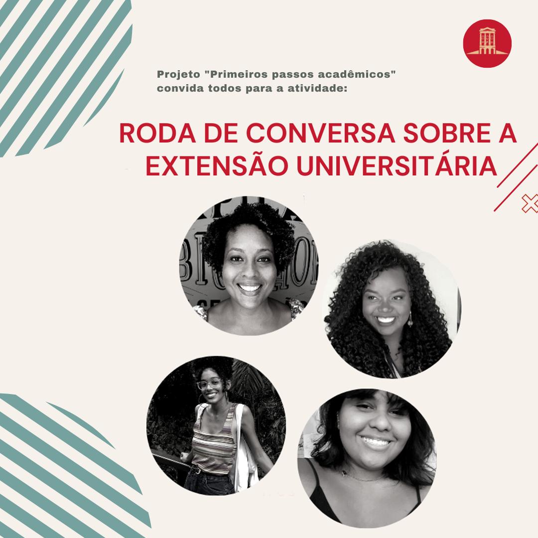 Roda de conversa sobre a extensão universitária